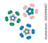 whimsical cute flower doodle... | Shutterstock .eps vector #2033598407