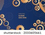 abstract techno gear background ...   Shutterstock .eps vector #2033605661