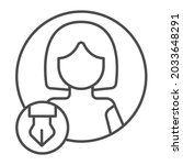 woman  pen in circle  avatar of ...