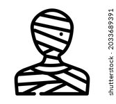 mummy fantasy character line... | Shutterstock .eps vector #2033689391