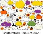 lots of halloween blow up sets. | Shutterstock .eps vector #2033758064
