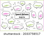 callout design set with... | Shutterstock .eps vector #2033758517