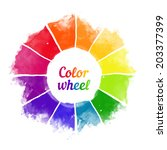handmade color wheel. isolated