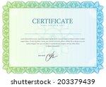 horizontal template certificate ... | Shutterstock .eps vector #203379439