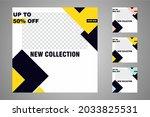 new set of editable minimal... | Shutterstock .eps vector #2033825531