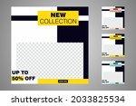 new set of editable minimal... | Shutterstock .eps vector #2033825534