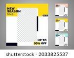 new set of editable minimal... | Shutterstock .eps vector #2033825537