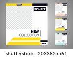 new set of editable minimal... | Shutterstock .eps vector #2033825561