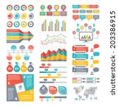 Infographic Elements Collection - Business Vector Illustration in flat design style for presentation, booklet, website etc. Big set of Infographics. | Shutterstock vector #203386915