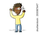 cartoon terrified man | Shutterstock .eps vector #203387647