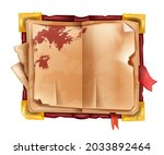 old ancient open book  vector...