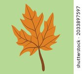 simplicity maple leaf freehand... | Shutterstock .eps vector #2033897597