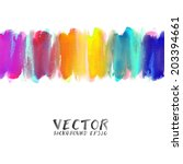 Vector of watercolor hand painted .Illustration EPS10 - stock vector