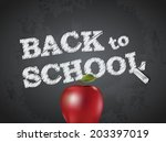 back to school poster with text ... | Shutterstock .eps vector #203397019