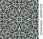 arabic seamless ornament.... | Shutterstock .eps vector #203397229