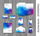 corporate brand business... | Shutterstock .eps vector #203400961