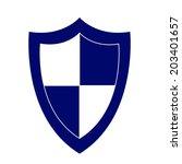 shield vector icon | Shutterstock .eps vector #203401657