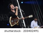 Small photo of HRADEC KRALOVE - JULY 5: Singer Luke Pritchard of The Kooks during performance on festival Rock for People in Hradec Kralove, Czech republic, July 5, 2012.