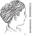 vectors of hairstyles  wedding... | Shutterstock .eps vector #2034038111