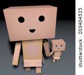 cardboard man | Shutterstock . vector #203404525