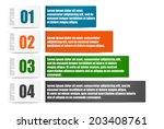 infographics set for 4 options | Shutterstock .eps vector #203408761