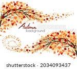 hello a gold autumn. autumn... | Shutterstock .eps vector #2034093437