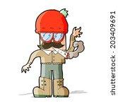 cartoon man smoking pot | Shutterstock .eps vector #203409691