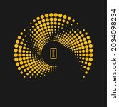 yellow concentric halftone...   Shutterstock .eps vector #2034098234