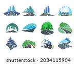 highway road  driveway or...   Shutterstock .eps vector #2034115904