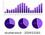 vector illustration set of... | Shutterstock .eps vector #203415181