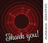 vector of thank you text  in... | Shutterstock .eps vector #2034159191