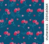 vector of bright pink flowers... | Shutterstock .eps vector #2034160664