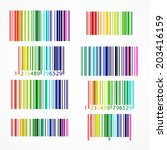 Rainbow Colored Barcode Set....