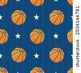 vector of basketball balls and... | Shutterstock .eps vector #2034166781