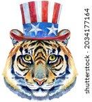 tiger horoscope character...   Shutterstock . vector #2034177164