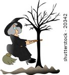 Illustration Of A Witch That...