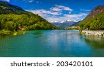 view of the lake near villa di... | Shutterstock . vector #203420101