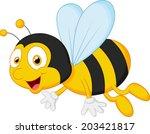 bee cartoon flying