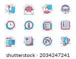 customer support concept flat... | Shutterstock .eps vector #2034247241