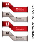3d numbered banners. vector...   Shutterstock .eps vector #203427421