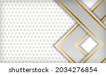 white abstract luxury dimension ... | Shutterstock .eps vector #2034276854