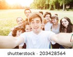 Ten Friends Do A Selfie In The...