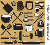Set Of Baking Tool Objects