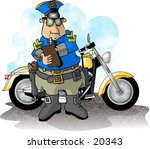 illustration of a motorcycle... | Shutterstock . vector #20343