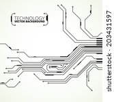 circuit board background texture | Shutterstock .eps vector #203431597