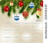 2015 new year calendar vector... | Shutterstock .eps vector #203436235