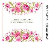 luxurious vintage frame of... | Shutterstock .eps vector #203436439