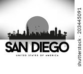 san diego united states of... | Shutterstock .eps vector #203445091