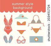 summertime vacations and... | Shutterstock .eps vector #203451724