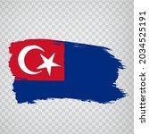 flag johor brush strokes. flag  ...